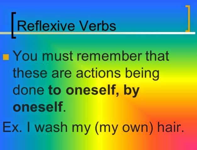 Pengertian dan Contoh Reflexive Verbs dalam Bahasa Inggris