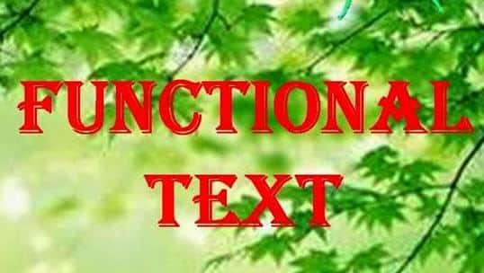 Pengertian dan Contoh Functional Text Dalam Bahasa Inggris