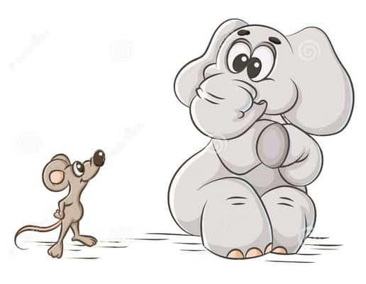 Cerita Fabel Bahasa Inggris Tentang Gajah dan Tikus Beserta Artinya